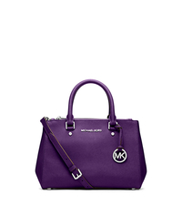 Sutton Small Saffiano Leather Satchel - GRAPE - 30F4SSUS5L