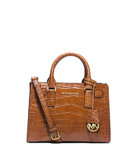 Dillon Small Crocodile Pattern-Embossed Leather Satchel - ONE COLOR - 30H4GAIS1E