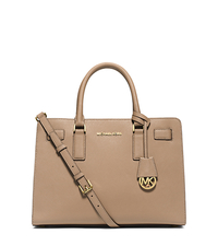 Dillon Saffiano Leather Satchel - DARK KHAKI - 30H4GAIS3L