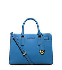 Dillon Saffiano Leather Satchel - HERITAGE BLUE - 30H4GAIS3L