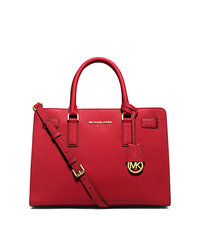 Dillon Saffiano Leather Satchel - RED - 30H4GAIS3L