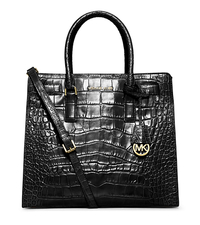 Dillon Large Crocodile Pattern-Embossed Leather Tote - ONE COLOR - 30H4GAIT3E