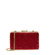 Elsie Crystal-Embellished Box Clutch - RED - 30H4GBXC1U