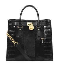 Hamilton Large Hair Calf and Embossed-Leather Tote - ONE COLOR - 30H4GHMT3H