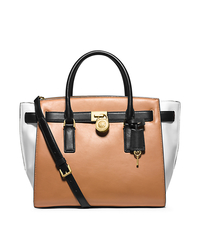 Hamilton Traveler Large Color-Block Leather Satchel - ONE COLOR - 30H4GHXS3L