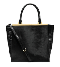 Lana Hair Calf and Embossed-Leather Tote - ONE COLOR - 30H4GKYT7H
