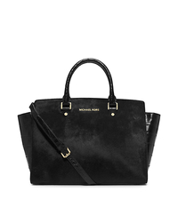 Selma Large Hair Calf Satchel - ONE COLOR - 30H4GLMS3H