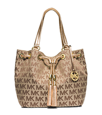 Jet Set Travel Large Logo Tote - BEIGE/EBONY/GOLD - 30H4GTTT9J