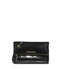 Jet Set Travel Hair Calf and Embossed-Leather Clutch - ONE COLOR - 30H4GTVC3H