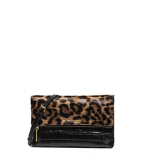 Jet Set Travel Leopard-Print Hair Calf Clutch - ONE COLOR - 30H4GTVC7H
