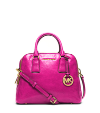 Alexis Medium Leather Satchel - RASPBERRY - 30H4GZES2L