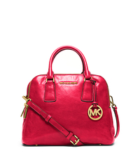 Alexis Medium Leather Satchel - DARK RED - 30H4GZES2L