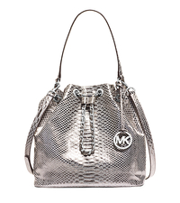 Frankie Metallic Embossed Leather Shoulder Bag - ONE COLOR - 30H4MFKL3K