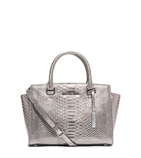 Selma Medium Python Pattern-Embossed Leather Satchel - ONE COLOR - 30H4MLMS6K