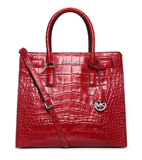 Dillon Large Crocodile Pattern-Embossed Leather Tote - ONE COLOR - 30H4SAIT3E
