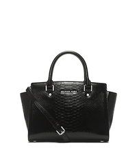 Selma Snake Pattern-Embossed Leather Satchel - ONE COLOR - 30H4SLMS2E