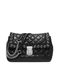 Sloan Large Quilted-Leather Shoulder Bag - BLACK - 30H4SVHF3L
