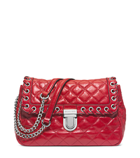 Sloan Large Quilted-Leather Shoulder Bag - DARK RED - 30H4SVHF3L