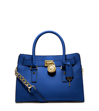 Hamilton Saffiano Leather Medium Satchel - ELECTRIC BLUE - 30S2GHMS3L