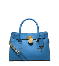Hamilton Saffiano Leather Medium Satchel - HERITAGE BLUE - 30S2GHMS3L
