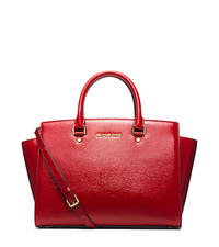 Selma Large Patent-Leather Satchel - ONE COLOR - 30T4GLMS3A