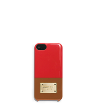 Color-Block Phone Case - MANDARIN/LUGGAGE - 32H4GELL1T