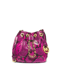 Frankie Embossed-Leather Crossbody - RASPBERRY - 32H4GFKC1E