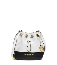 Jules Color-Block Leather Crossbody - OPTIC WHITE/BLK - 32H4GJLC3T