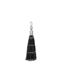Studded Leather Tassel Keychain - BLACK - 32H4SKCK1L