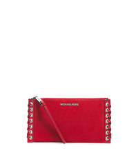 Hippie Large Suede Clutch - DARK RED - 32H4SPPW3S