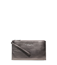 Bedford Metallic Leather Large Clutch - GUNMETAL - 32F4MBFW3M