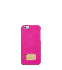 Saffiano Leather Phone Case For iPhone 6 - RASPBERRY - 32H4GELL2L