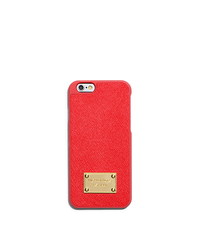 Saffiano Leather Phone Case For iPhone 6 - MANDARIN - 32H4GELL2L