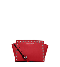 Selma Medium Studded Saffiano Leather Messenger - ONE COLOR - 30T3SSMM2L