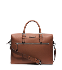 Bryant Large Pebbled-Leather Briefcase - LUGGAGE - 33S5SYTA2L