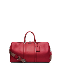Warren Large Leather Duffel - WINE - 33S5LWTU3L