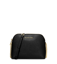 Cindy Large Saffiano Leather Crossbody - BLACK - 32H4GCPC7L