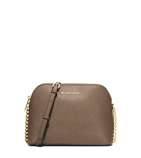 Cindy Large Saffiano Leather Crossbody - DARK DUNE - 32H4GCPC7L