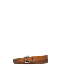 Skinny Loop Vachetta Leather Belt - LUGGAGE - 31T4PBLA5L