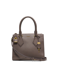 Casey Small Leather Satchel - ELEPHANT - 31F4GCYS1L