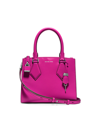 Casey Calf Leather Small Satchel - FUSCHIA - 31F4GCYS1L