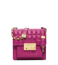 Gia Quilted Leather Small Crossbody - FUSCHIA - 31F4GGAX2L