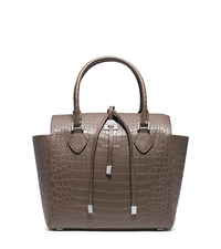 Miranda Crocodile Medium Tote - ELEPHANT - 31F4GMDT6R