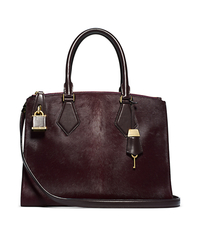 Casey Hair Calf Large Satchel - ONE COLOR - 31F4MCYS3H