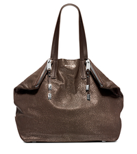 Harlow Metallic Leather Large Tote - ONE COLOR - 31F4MHLT8M