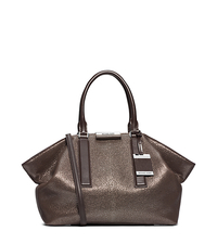 Lexi Metallic Leather Large Satchel - ONE COLOR - 31F4MLXS3M