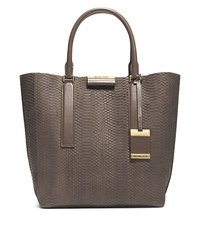 Lexi Sueded Snake Large Tote - ELEPHANT - 31F4MLXT3Z
