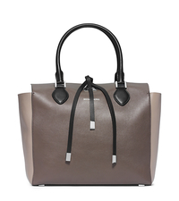 Miranda Large Leather Tote - ELEPHANT - 31F4PMBT7L