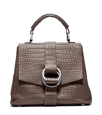 Julie Nile Crocodile Large Bag - ELEPHANT - 31F4TJUS3E