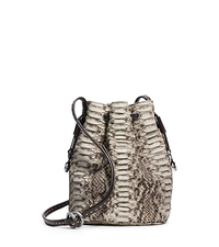 Julie Drawstring Python Small Crossbody - TAUPE - 31F4TJUX1P